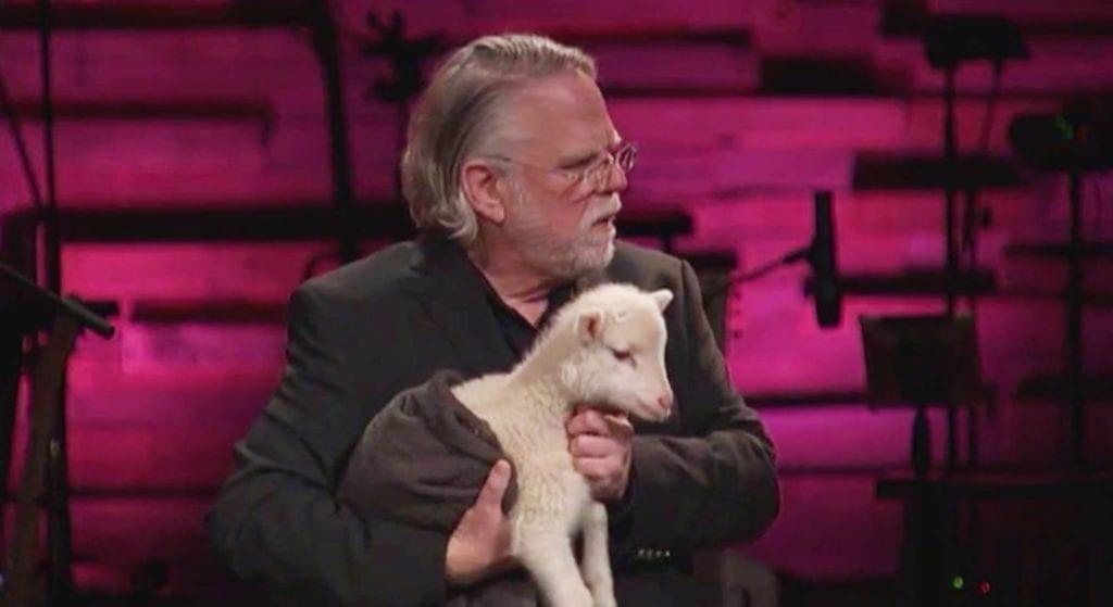 messianic rabbi eric walker speaking with lamb